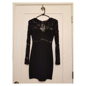 Seductions by Sirens - black dress w/ lace sleeves